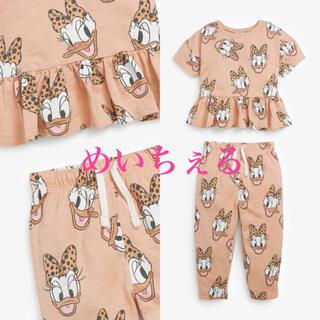 Disney - 【新品】オークル Disney デイジーTシャツ&パンツセット(ガールズ)