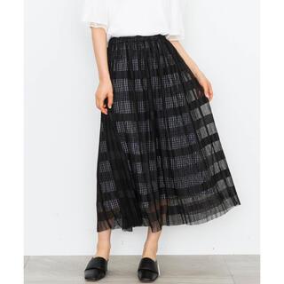 ミュベールワーク(MUVEIL WORK)のミュベールワーク チェックコンビプリーツスカート(ロングスカート)