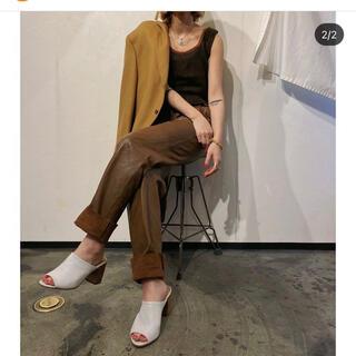 アメリヴィンテージ(Ameri VINTAGE)のlise vinvage leather straight pants(その他)