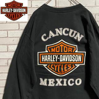 Harley Davidson - 90s 古着 ハーレーダビッドソン XL メキシコ製 バックプリント ゆるだぼ