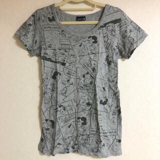 スヌーピー(SNOOPY)のスヌーピー 総柄 Tシャツ(Tシャツ(半袖/袖なし))