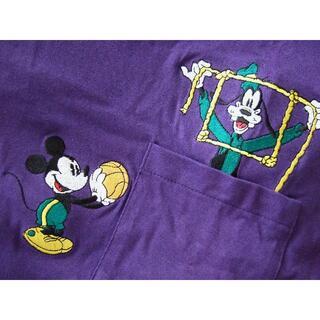 ミッキーマウス(ミッキーマウス)の未使用 ミッキーマウス グーフィー バスケットボール ポケット Tシャツ 90s(Tシャツ/カットソー(半袖/袖なし))