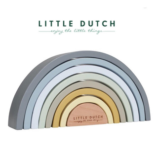 コドモビームス(こどもビームス)の▼ Little dutch リトルダッチ ▼ レインボータワーパズル 虹 積木(知育玩具)