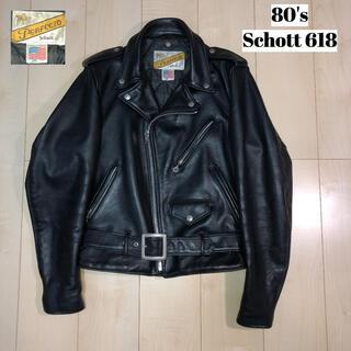 schott - 80s Schott ショット 618 ダブルライダースジャケット