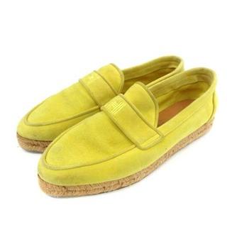 エルメス(Hermes)のエルメス スリッポン ローファー エスパドリーユ スエード 36 23cm 黄色(ローファー/革靴)