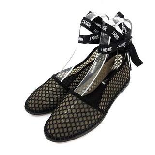クリスチャンディオール(Christian Dior)のクリスチャンディオール ジャドール パンプス フラットシューズ 36.5 黒(ハイヒール/パンプス)