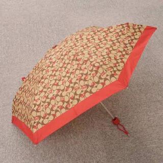 コーチ(COACH)のcoach  折り畳み傘 バレンタイン限定(傘)