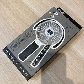 スヌーピー(SNOOPY)の新品SNOOPYスヌーピーハンディファン扇風機5枚羽根式USB充電式風量3段階(扇風機)