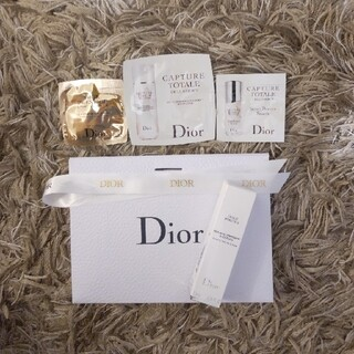 ディオール(Dior)のディオールセラムネイルオイルアブリコ新品未開封 試供品3点&プレゼント包装セット(ネイルケア)