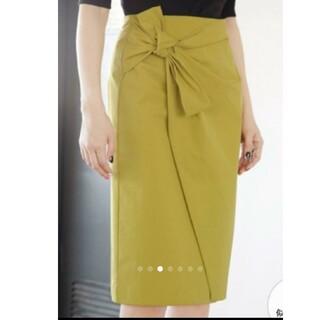 スタイルデリ(STYLE DELI)のスタイルデリ サイドリボンラップ風スカート(ひざ丈スカート)