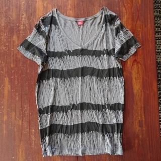 ダブルスタンダードクロージング(DOUBLE STANDARD CLOTHING)のダブルスタンダードクロージング ダブスタ 総柄  Vネック Tシャツ 半袖(Tシャツ(半袖/袖なし))