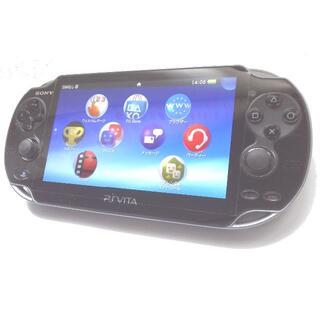 プレイステーションヴィータ(PlayStation Vita)の【3点セット】PlayStation®Vitaクリスタル・ブラック 3GWiFi(携帯用ゲーム機本体)