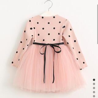 韓国 こども服 チュール ドット ワンピース ドレス 結婚式 セレモニー(ドレス/フォーマル)