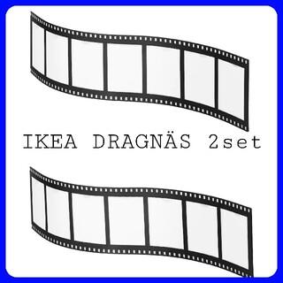 イケア(IKEA)のIKEA DRAGNÄS ドラグネス コラージュフレーム 2個セット(フォトフレーム)