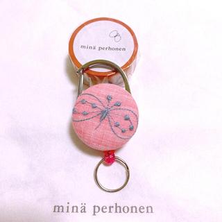 ミナペルホネン(mina perhonen)の♦️ハンドメイド♦️新作ミナペルホネン生地♦️リールキーホルダー(その他)