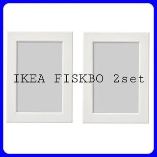 イケア(IKEA)のIKEA FISKBO 10*15 フィスクボー ホワイト 2枚セット(フォトフレーム)