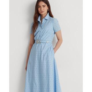 ラルフローレン(Ralph Lauren)の新品・未使用 定価¥31900 ラルフローレン  ベルト付き 刺繍ワンピース(ロングワンピース/マキシワンピース)