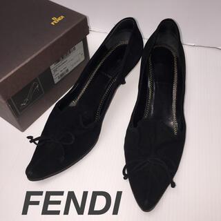 フェンディ(FENDI)のFENDI スエードパンプス(ハイヒール/パンプス)