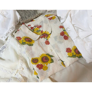 ロキエ(Lochie)のvintage 花柄ブラウス(シャツ/ブラウス(半袖/袖なし))