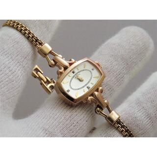 アガット(agete)のagate ブレスレットウォッチ SILVER GP 素敵なデザイン(腕時計)