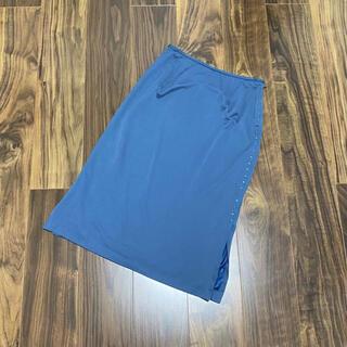レオナール(LEONARD)のレオナール LEONARD スカート ビジュー 日本製 膝丈 膝下 ミモレ丈(ひざ丈スカート)