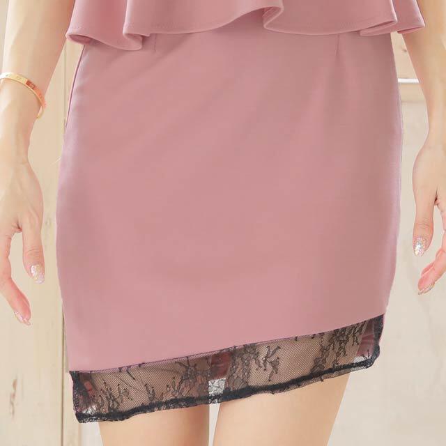 dazzy store(デイジーストア)のペプラム 新品未使用 即購入可能 デイジー キャバドレス レディースのフォーマル/ドレス(ミニドレス)の商品写真