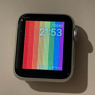 アップル(Apple)のApple Watch 3 GPS バッテリー100% 38mm 美品(その他)