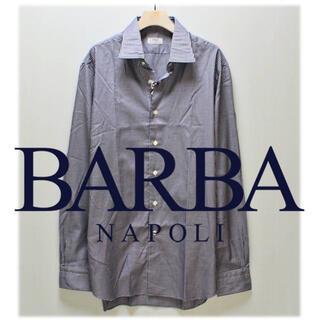 バルバ(BARBA)の《バルバ》新品 イタリア製 上質コットン ギンガムチェックシャツ 44(XL)(シャツ)