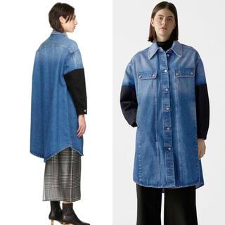エムエムシックス(MM6)の新品 定価101200円 メゾンマルジェラ MM6 デニムシャツ ジャケット(Gジャン/デニムジャケット)