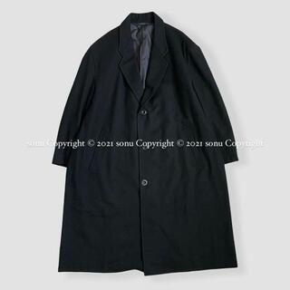 COMME des GARCONS HOMME PLUS - 1980年代 デカオム コムデギャルソン オム ウール ステンカラー コート M