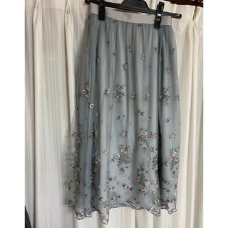リリーブラウン(Lily Brown)のチュール刺繍スカート(ひざ丈スカート)