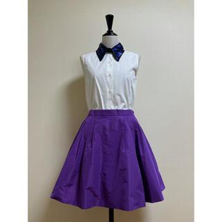 ミュウミュウ(miumiu)のmiu miu スカート パープル 新品 サイズ38(ひざ丈スカート)