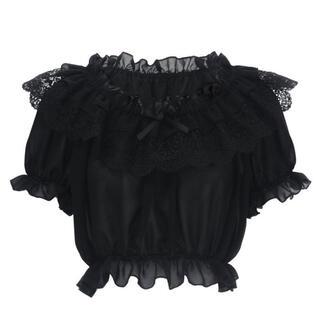 ロキエ(Lochie)の新品*Forest lace blouse -black-(シャツ/ブラウス(半袖/袖なし))
