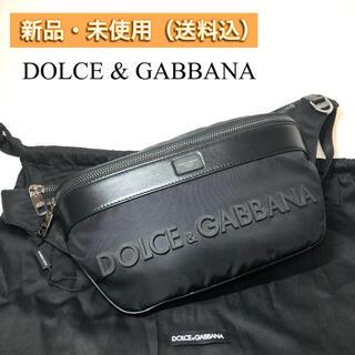 ドルチェアンドガッバーナ(DOLCE&GABBANA)の【新品・本物】Dolce&Gabbana ロゴ ベルトバッグ D&G BLACK(ショルダーバッグ)