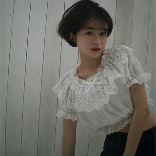 ロキエ(Lochie)の新品*Forest lace blouse -white-(シャツ/ブラウス(半袖/袖なし))