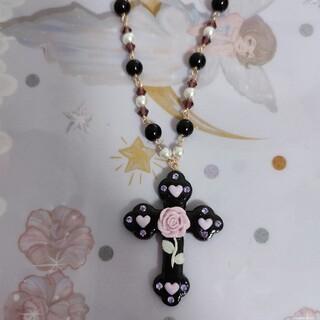 アンジェリックプリティー(Angelic Pretty)の最終値下げ ロリータ クロス バラ 十字架ネックレス(ネックレス)