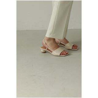 トゥデイフル(TODAYFUL)のtodayful Square Enamel Sandals 36 処分セール(サンダル)