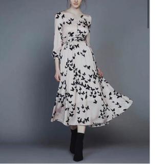 ダブルスタンダードクロージング(DOUBLE STANDARD CLOTHING)のSov./ バタフライVネックプリントワンピース(ロングワンピース/マキシワンピース)