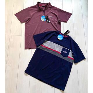 ダンロップ(DUNLOP)の新品 DUNLOP 吸水速乾 UVカット ハーフジップ 半袖 ウェア Tシャツ(Tシャツ/カットソー(半袖/袖なし))