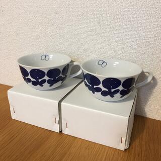 ミナペルホネン(mina perhonen)の新品未使用 ミナペルホネン パスザバトン マグカップスープカップ2個セット(食器)