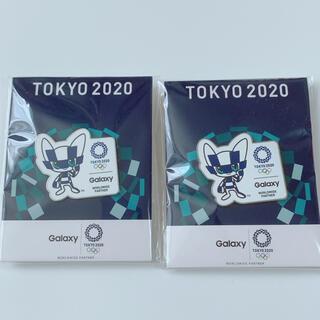ギャラクシー(Galaxy)のTOKYO2020  GALAXY オリジナルピンバッジ 2点セット(バッジ/ピンバッジ)