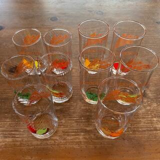東洋佐々木ガラス - 送料込《佐々木硝子》野菜フルーツ麦柄ガラスコップ10点