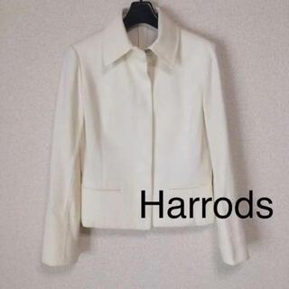 ハロッズ(Harrods)のハロッズ ジャケット S ホワイト系 春夏 入園入学 未使用に近い DMW(テーラードジャケット)