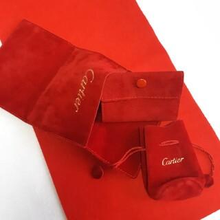 カルティエ 保存袋C ジュエリー アクセサリー 巾着 スナップ ケース 3セット