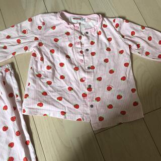 ミキハウス(mikihouse)のミキハウスいちごパジャマ 80(パジャマ)