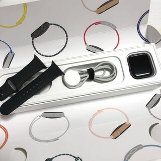 アップルウォッチ(Apple Watch)の美品アップルウォッチ series4 GPS+cellular mtvu2j/a(腕時計(デジタル))