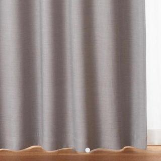 ムジルシリョウヒン(MUJI (無印良品))のポリエステルカーテン(防炎・遮光)/グレー 幅100×丈178cm (カーテン)