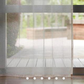ムジルシリョウヒン(MUJI (無印良品))の綿ボイルプリーツカーテン/オフ白 幅100×丈178cm(カーテン)
