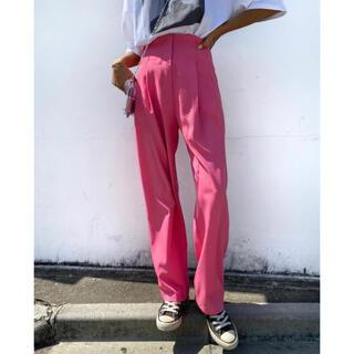ルームサンマルロクコンテンポラリー(room306 CONTEMPORARY)のsu_do タックパンツ ピンク PANTS スラックス tuck pt(カジュアルパンツ)