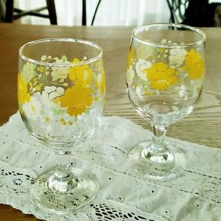 東洋佐々木ガラス - 昭和レトロ レトロポップ  脚付きグラス 2個 セット 新品